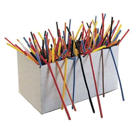 Creativity Street Super Stem Multi-Purpose Wire Pipe Cleaner, 5/16 X 12 in, Assorted Color, Pack of - Crafts With Pipe Cleaners