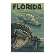Florida - Alligators (20x30 Premium 1000 Piece Jigsaw Puzzle, Made in USA!)