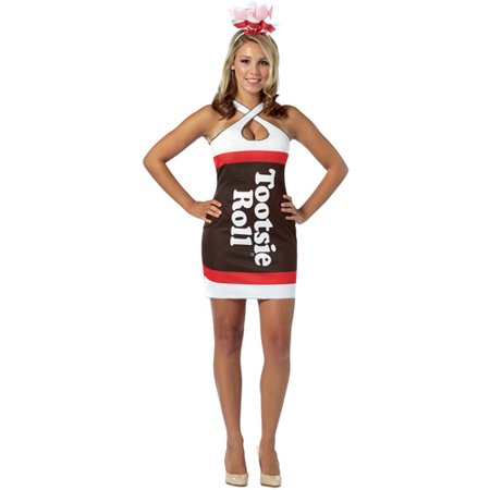 Tootsie Roll Teardrop Dress Adult Halloween Costume, Size: Women\'s ...