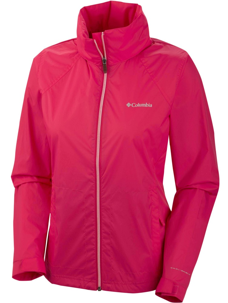 Columbia Women's Switchback II Full Zip Rain Jacket Bright Rose