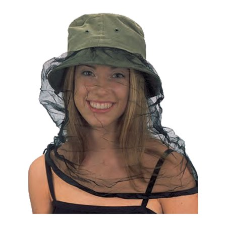 Olive Green Fishing Gardening Hat With Mosquito Bug Net Guard Costume Accessory - Wolf Hat Costume