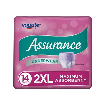 Assurance Underwear, Women's, Size 2XL, 14 Count