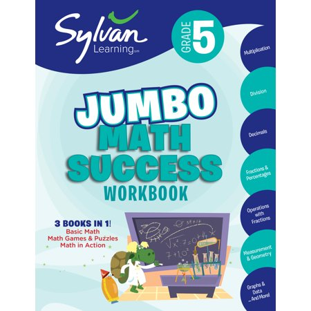 5th Grade Jumbo Math Success Workbook : Activities, Exercises, and Tips to Help Catch Up, Keep Up, and Get Ahead (Halloween Maths Activity Sheets)