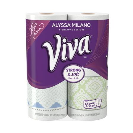 Viva Paper Towels  Choose A Sheet  Print  2 Big Rolls