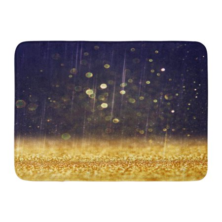 Vintage Gold Sparkle (SIDONKU Silver Party Vintage Lights Gold and Black Defocused Sparkle Bokeh Diamond Doormat Floor Rug Bath Mat 23.6x15.7 inch )