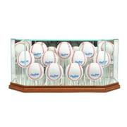Perfect Cases 11BSB-W Octagon 11 Baseball Display Case, Walnut