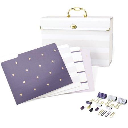 (U Brands LLC File Organizer Kit Purple Fashion)