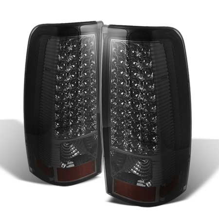 - Fits Smoked 99-02 Chevy Silverado 99-03 GMC Sierra Pickup LED Tail Lights Lamps