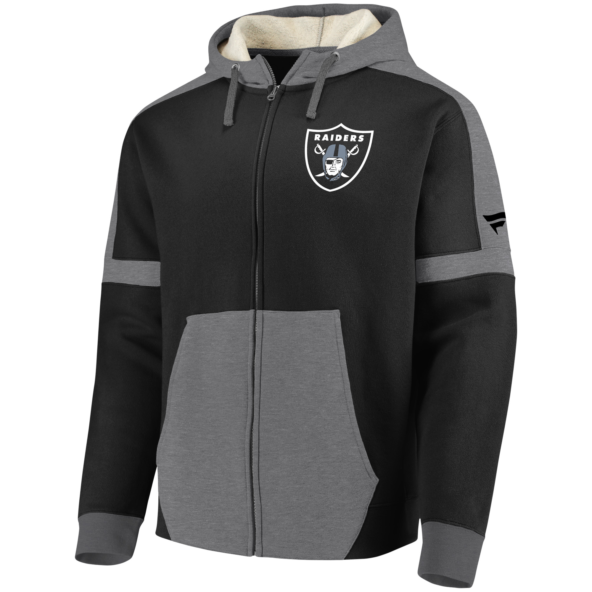 buy online 683fd 5371b Oakland Raiders NFL Pro Line by Fanatics Branded Iconic Full-Zip Hoodie -  Black/Heathered Gray - S