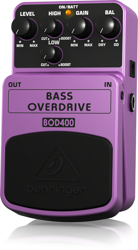 Behringer Bass Overdrive BOD400 Authentic Tube-Sound Overdrive Effects Pedal by Behringer