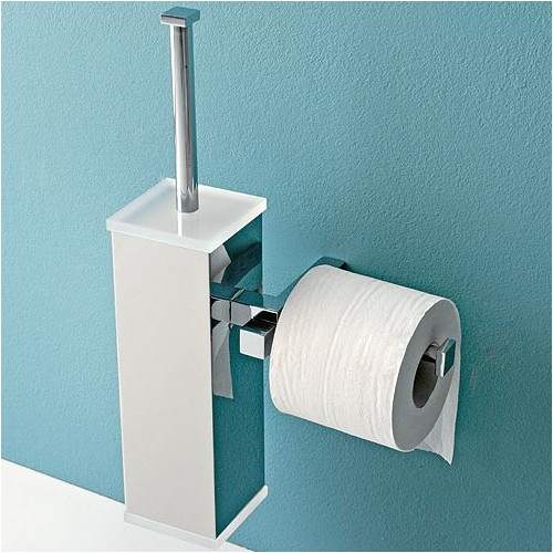 Toscanaluce by Nameeks Eden Wall Mounted Toilet Brush Holder with Toilet Paper Holder