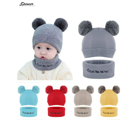 ae99f328938 Spencer - Spencer Baby Winter Warm Pom Pom Beanie Hat Scarf Set ...