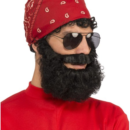 Adult Black Lumberjack Beard Costume Accessory - Good Halloween Costume With Beard