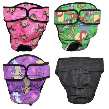 WASHABLE Female Dog Diaper Reusable for LARGE Big Breeds GREEN Safari sz Large (waist: 20