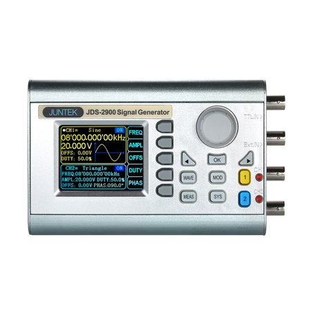 - JUNTEK High Precision Digital Dual-channel DDS Signal Generator Counter 2.4in Screen Display Arbitrary Waveform Pulse Signal Generator 0.01uHz-60MHz Function Frequency Meter 266MSa/s