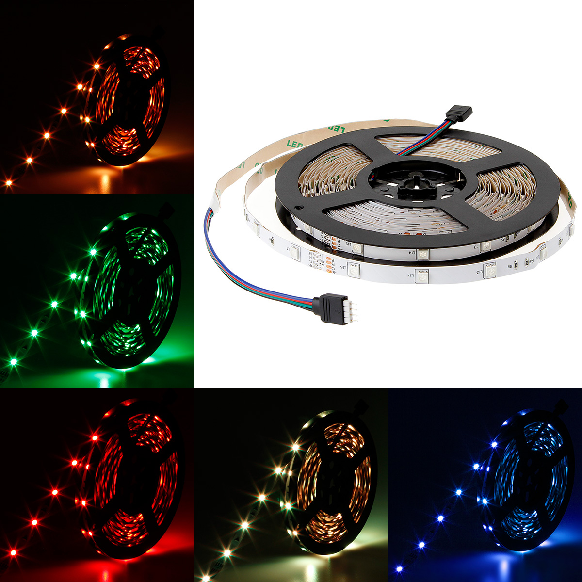 SUPERNIGHT 10m 32.8FT Color Changing Flexible LED Strip Light 5050 SMD 300 LEDs RGB Non-waterproof LED Light Strip Rope Light DC 24V Decorative LED Lighting for Seasonal Decoration
