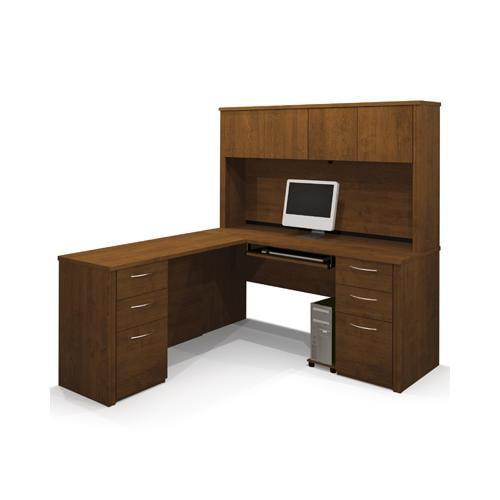 Bestar Embassy L-shaped workstation kit in Tuscany Brown BER6085363