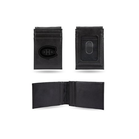 Montreal Canadiens  Laser Engraved Black Front Pocket Wallet