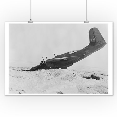 A plane which crashed at Air Transport Command Photograph (9x12 Art Print, Wall Decor Travel Poster)