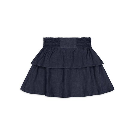 Jessica Simpson Girls Pleated Jean Skirt, Sizes 7-16