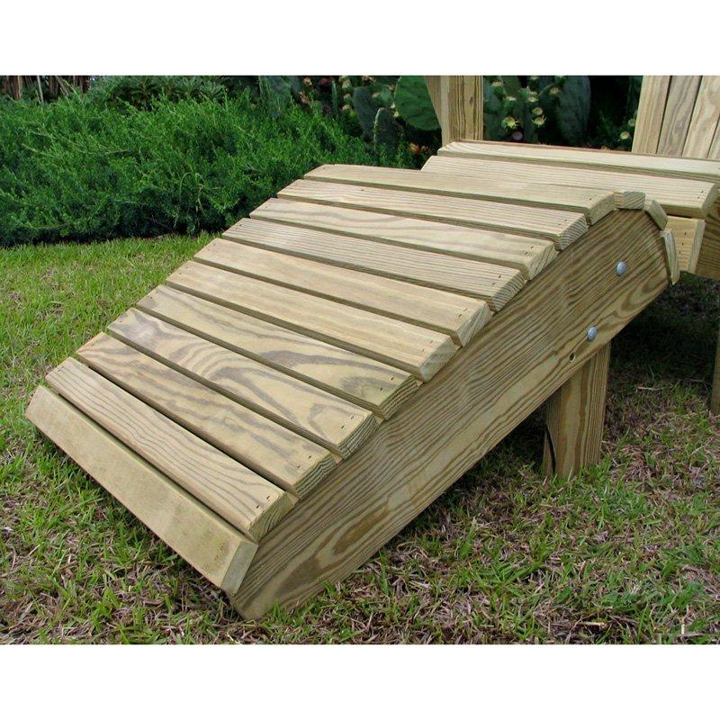 Weathercraft Designers Choice Pine Adirondack Footrest - Natural