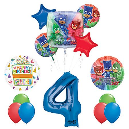 The Ultimate PJ MASKS 4th Birthday Party Supplies and Balloon decorations - Balloons And Parties