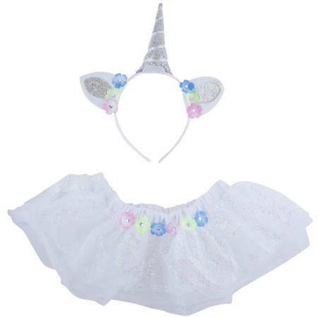 Lux Accessories Halloween Flower Unicorn Baby Girl Infant Size Costume Set - Flower Halloween Costume