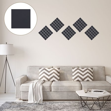 85pcs Mirror Wall Stickers Art DIY Decal Home Living Room Square Shape Bedroom Art Decoration Removable Small Black Sticker Art Shapes