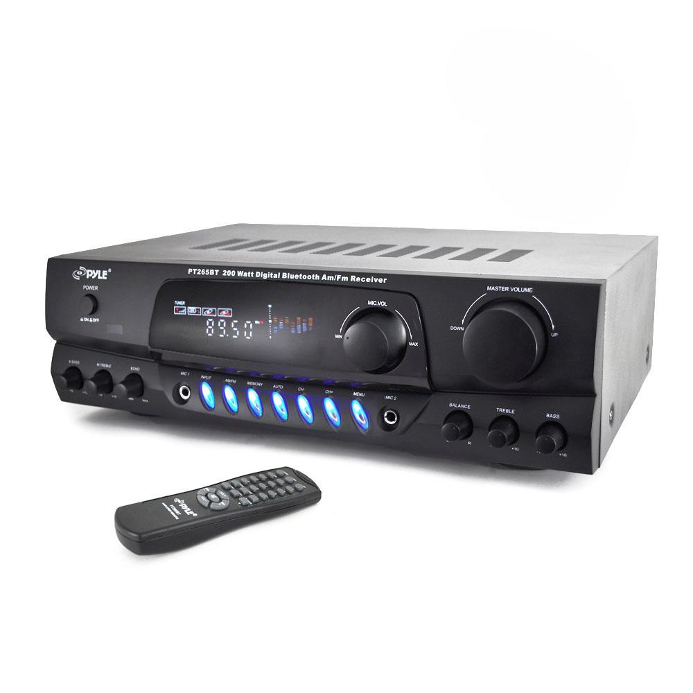 Pyle 200 Watt Bluetooth Digital Receiver Amplifier With Am Fm Radio Pt265bt