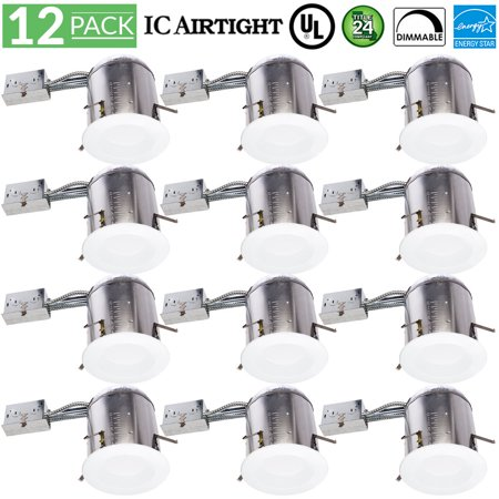 - Sunco Lighting 12 pack 13w 5/6 inch 5000K Daylight Baffle LED Recessed Lighting Remodel CAN & Retrofit KIT - Energy Star, UL, 965 Lumens, (=75W), Daylight, Ceiling
