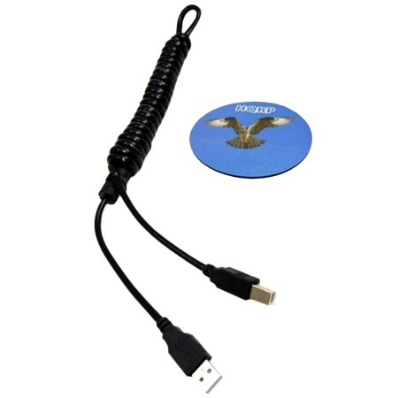 HQRP USB 2.0 Cable A Male to B Male for HP OfficeJet Pro 8600 / 8600 Plus / 8500A (A910a) / 8500A Plus / 8500A Premium (A910n) Printer + HQRP