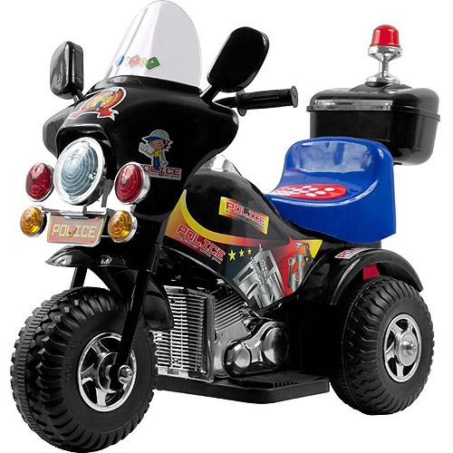 Lil' Rider Deputy 3-Wheel Motorcycle 6-Volt Battery-Powered Ride-On, Black