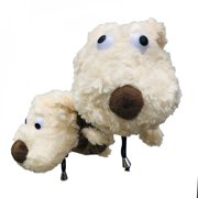 Plush Dog Golf Head Cover for Driver Fairway Woods Clubs Outdoor Sport Plush Golf Clubs Headcovers