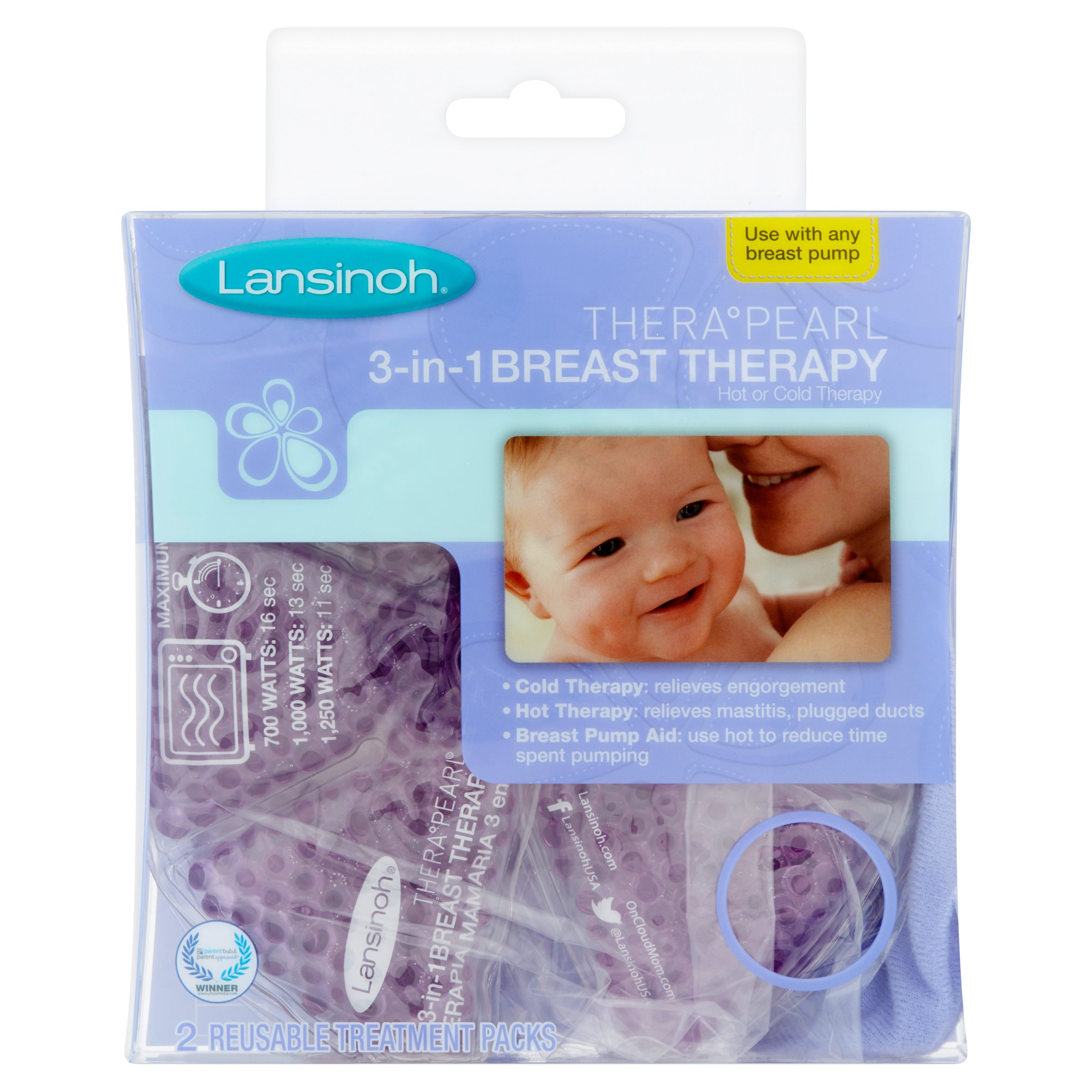 Lansinoh TheraPearl 3-in-1 Breast Therapy Hot or Cold