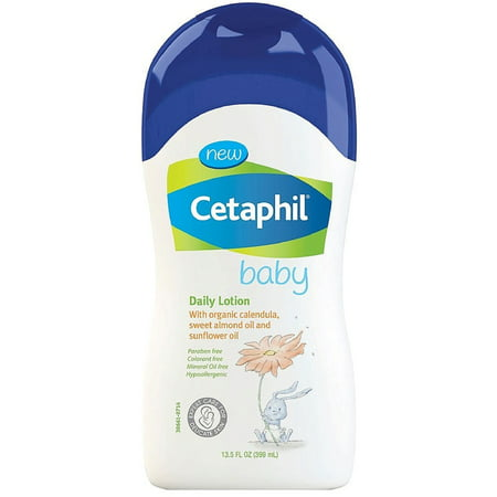 2 Pack - Cetaphil Baby Daily Lotion with Organic Calendula, Sweet Almond Oil & Sunflower Oil 13.5 oz