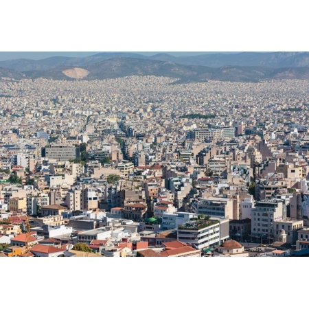 - Athens, Attica, Greece. View over Athens from the Acropolis. Print Wall Art