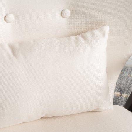 Schiffer Wood and Fabric Club Chair, Dark Espresso/ Beige - image 5 de 5