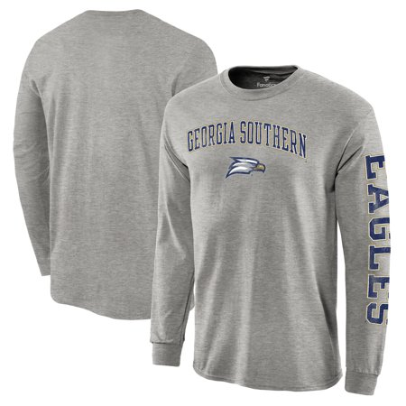 Georgia Southern Eagles Golf - Georgia Southern Eagles Fanatics Branded Distressed Arch Over Logo Long Sleeve Hit T-Shirt - Gray