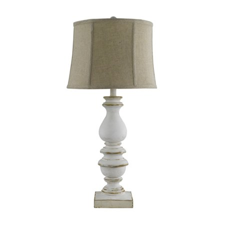 A Homestead Shoppe Bishop White Table Lamp