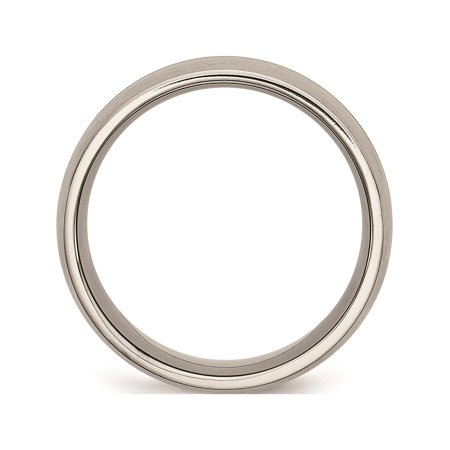 JbSP- Titanium Grooved 10mm Brushed and Polished Band - image 4 of 6