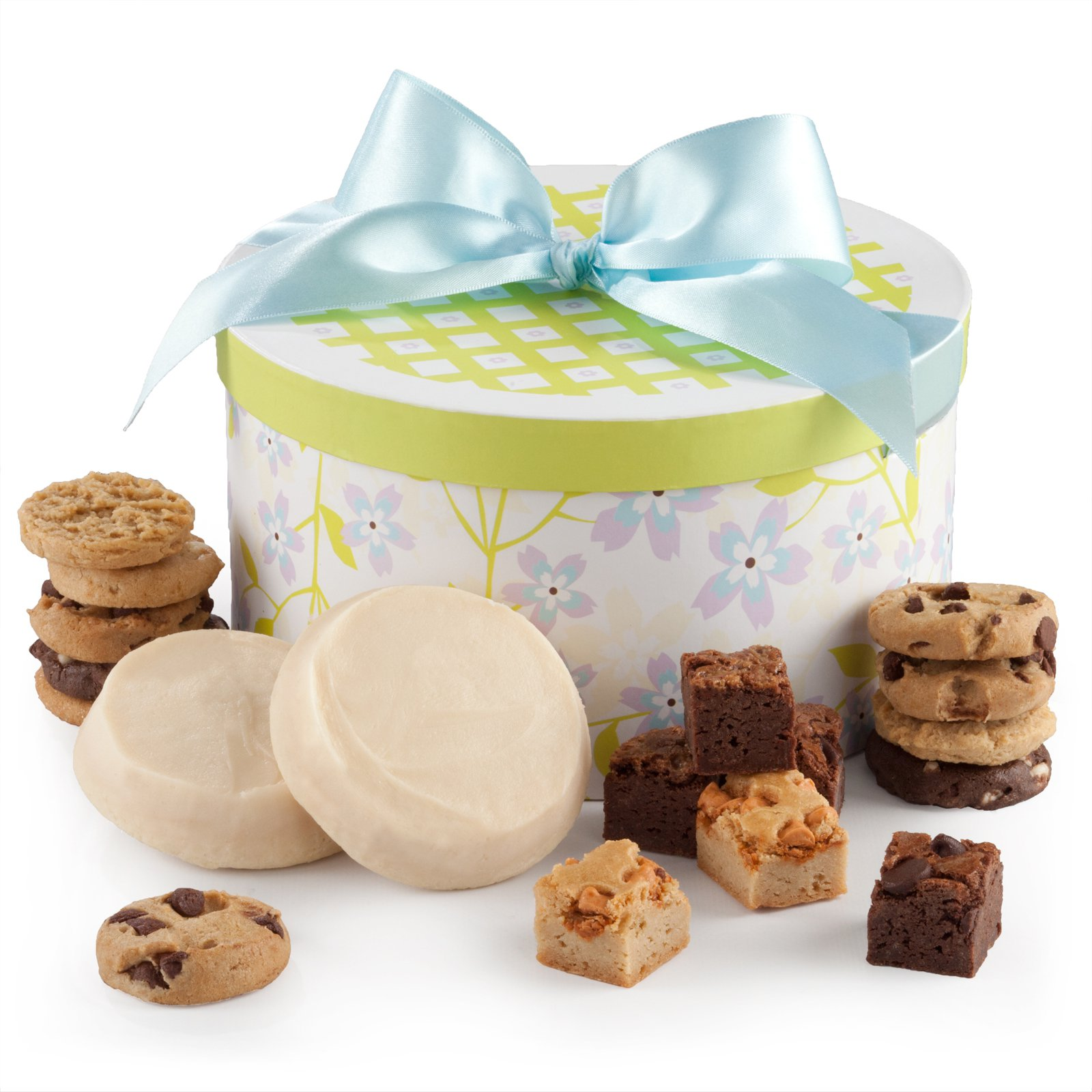Mrs. Fields Spring Round Ribbon Gift Box