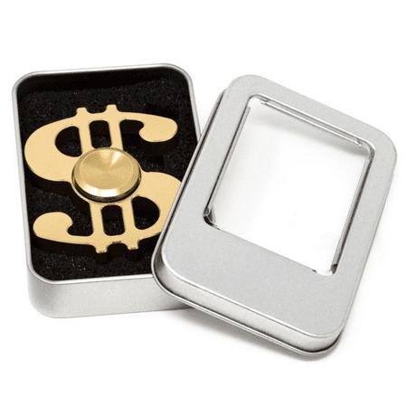 Lux Accessories Gold Dollar Sign Money Trendy Kids Adult Toy Tri Fidget - Dollar Toys