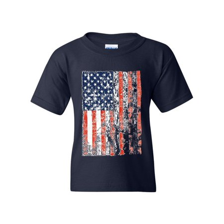 bd3a6d4c IWPF - United States of America Flag Vintage USA Flag Unisex Youth Kids T-Shirt  Tee - Walmart.com