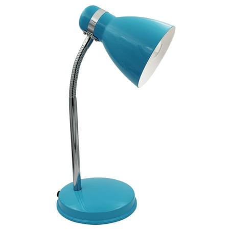 SXE Fashionable Teal All Metal LED Desk Lamp With Adjustable Neck- SXE88034T ()