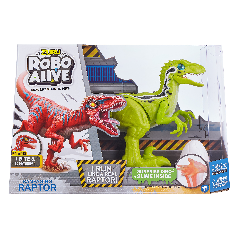 Robo Alive Rampaging Raptor Dinosaur Toy By Zuru Color May Vary Walmart Com Walmart Com