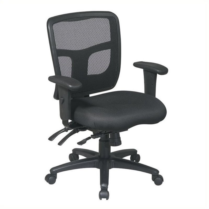 Scranton & Co Mesh Mid-Back Office Chair with Adjustable Arms