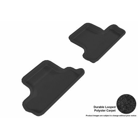 3D MAXpider 2007-2014 MINI Cooper-S Convertible Second Row All Weather Floor Liners in Black Carpet