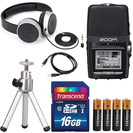 H4n Handy Recorder (Zoom H2n Handy Digital Recorder along With Samson Studio Headphones and Deluxe Accessory Bundle )