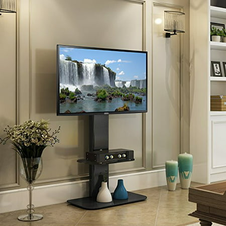 Fitueyes Universal Floor Tv Stand Base With Swivel Mount Av