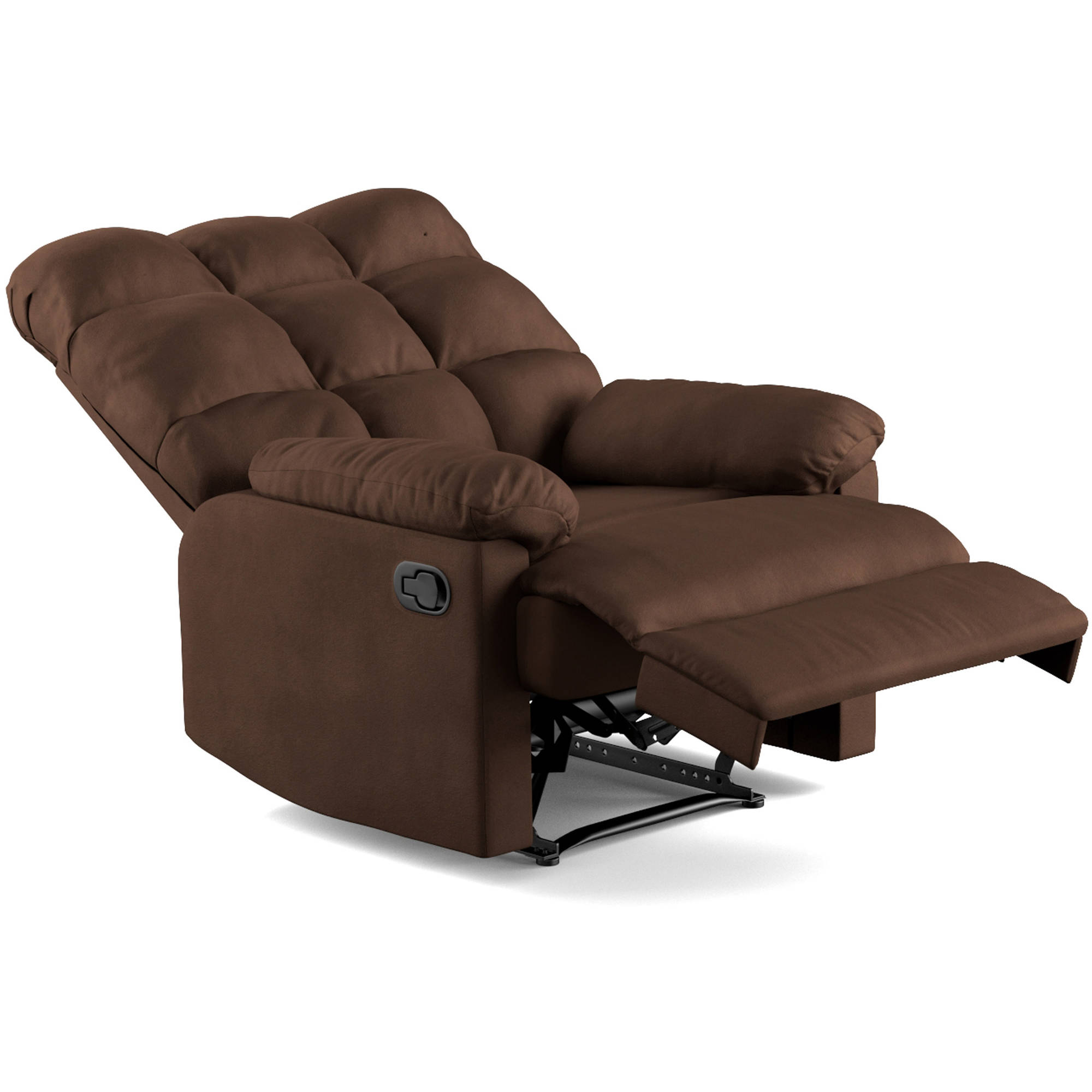 Mainstays Baja Wall Hugger Microfiber Biscuit back Recliner Chair Multiple Colors - Walmart.com  sc 1 st  Walmart : new style super comfort recliner - islam-shia.org